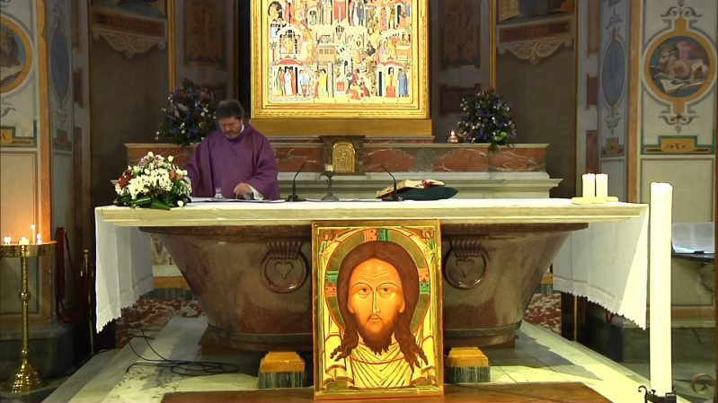 Liturgia eucaristica dalla Basilica di San Bartolomeo all'Isola Tiberina